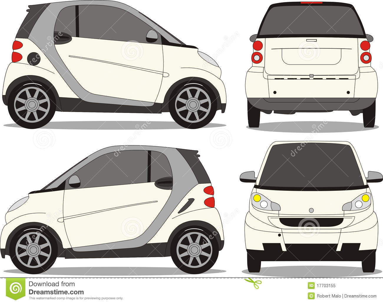 Small car vector art stock vector  Illustration of colour