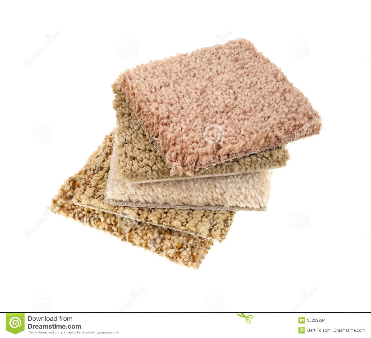 Small Carpet Sample Squares Stock Images Image 35229284
