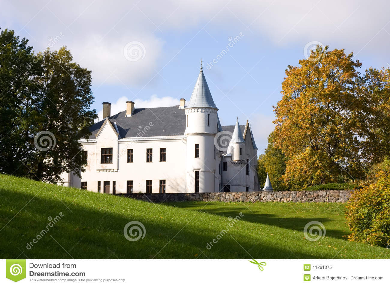 Small castle babelsberg park stock image cartoondealer for Small chateau