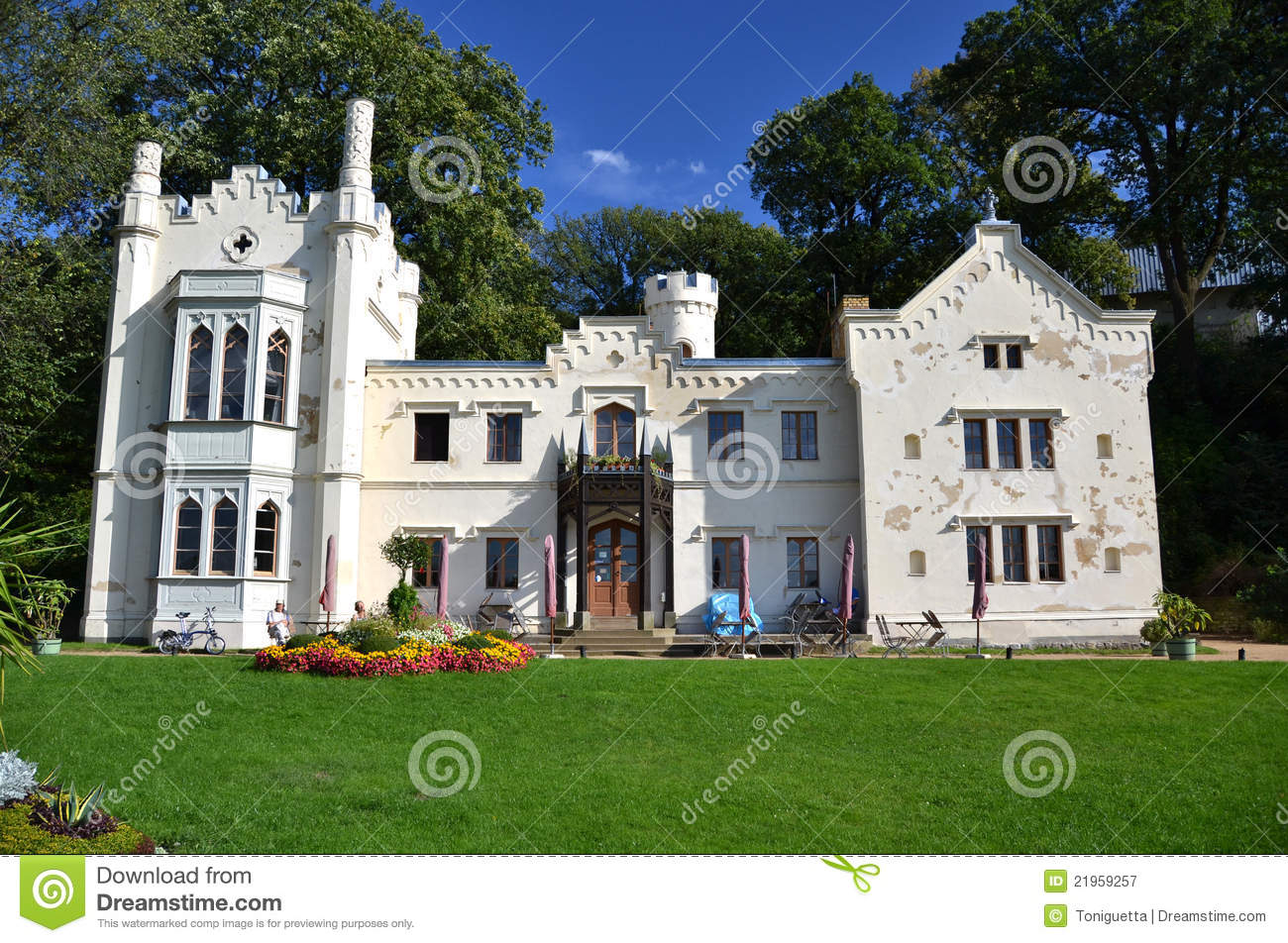 Small castle babelsberg park stock image image of park for Small chateau