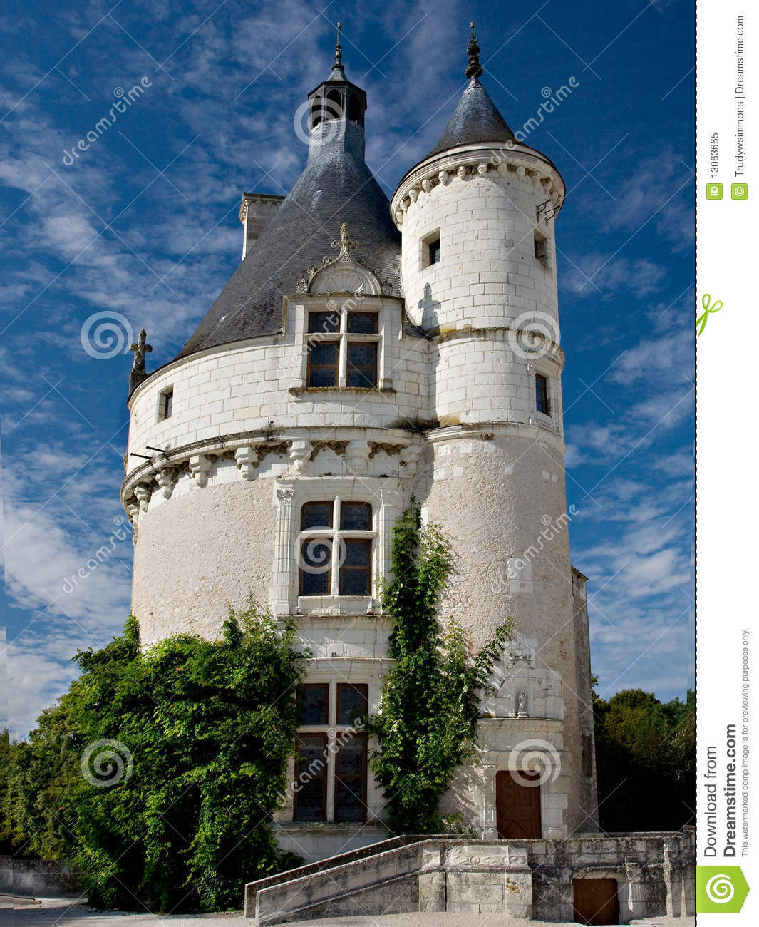 Small Castle Chenonceau France Stock Image Image 13063665