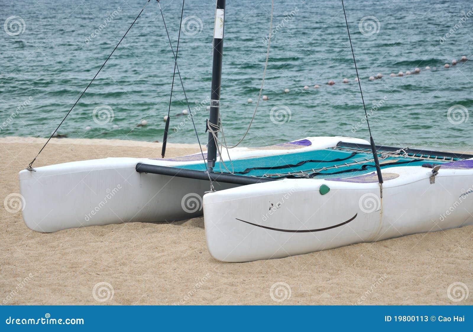 Small Catamaran On Beach Sand Stock Photos - Image: 19800113