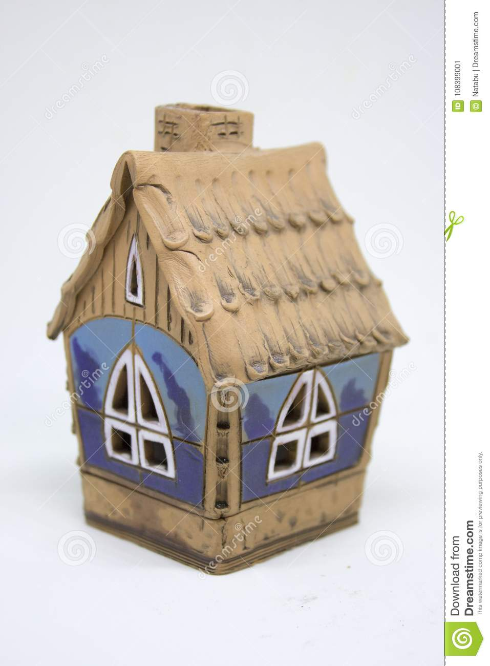 Small Ceramic House Stock Image Image Of Miniature 108399001