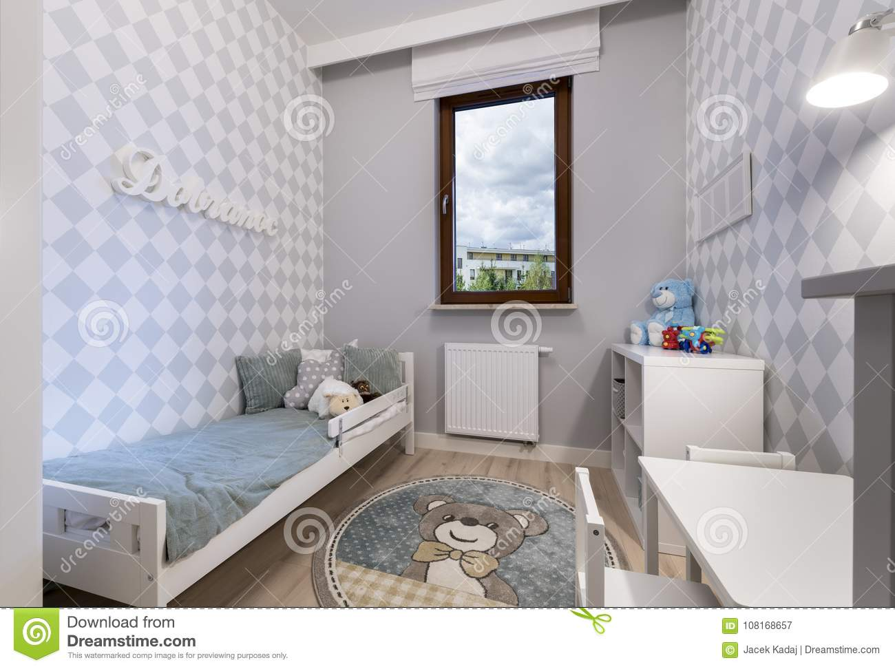 Small Child Room In Modern Apartment Stock Image - Image of ...