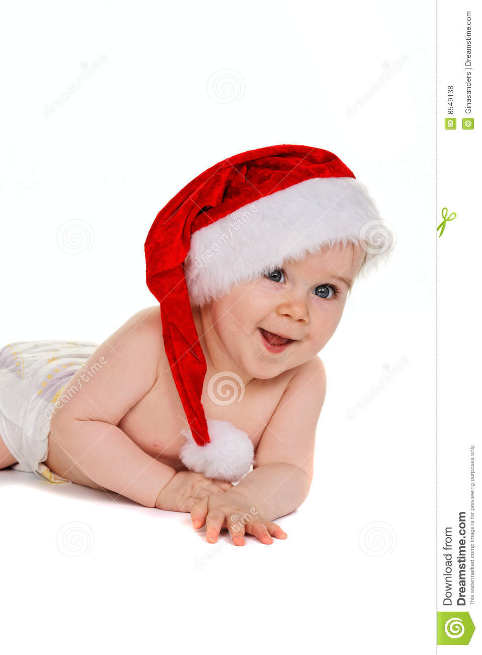 small child with santa claus hat baby - Small Children Images
