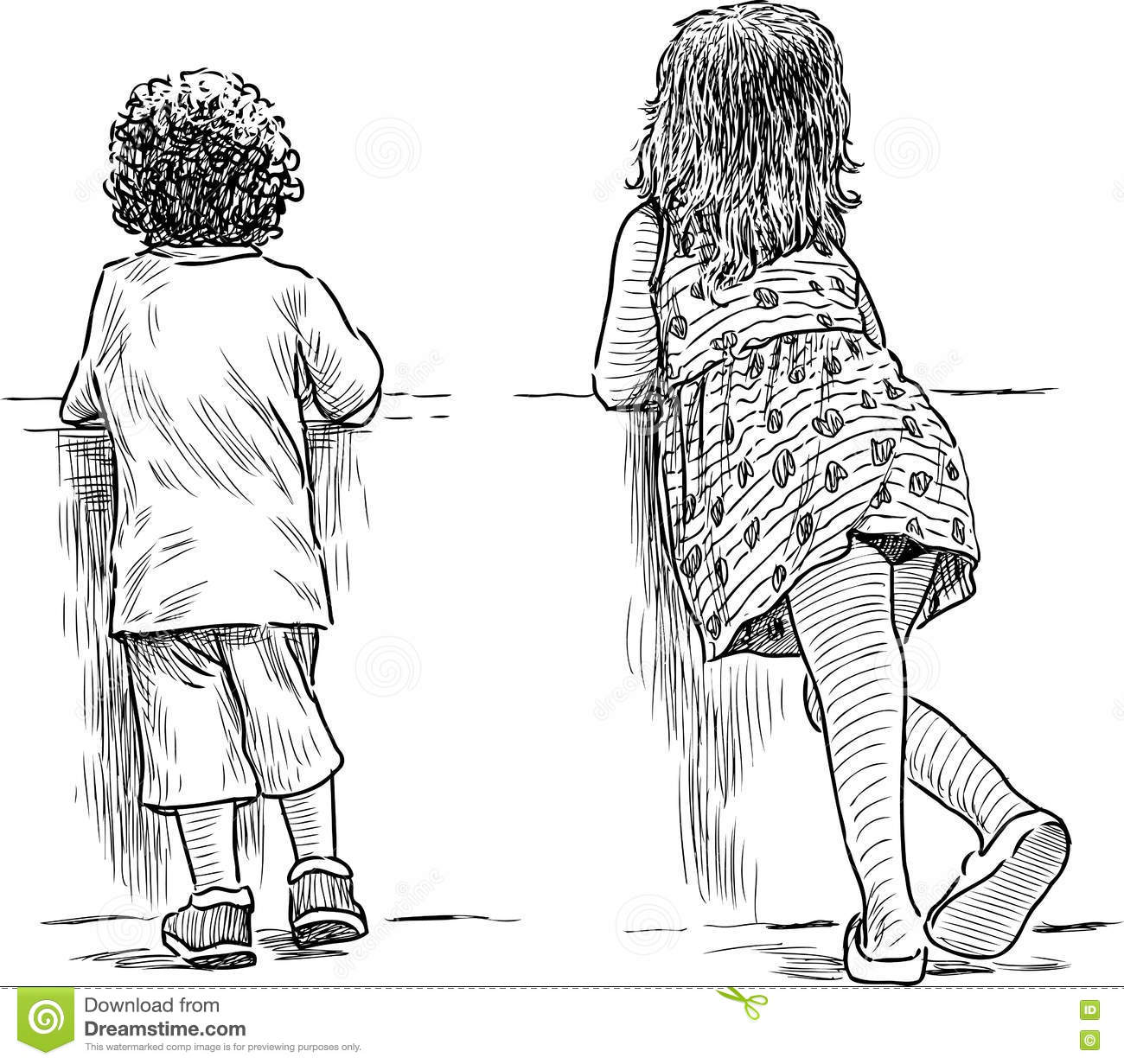 small children for a walk in the park stock photo image 76229894