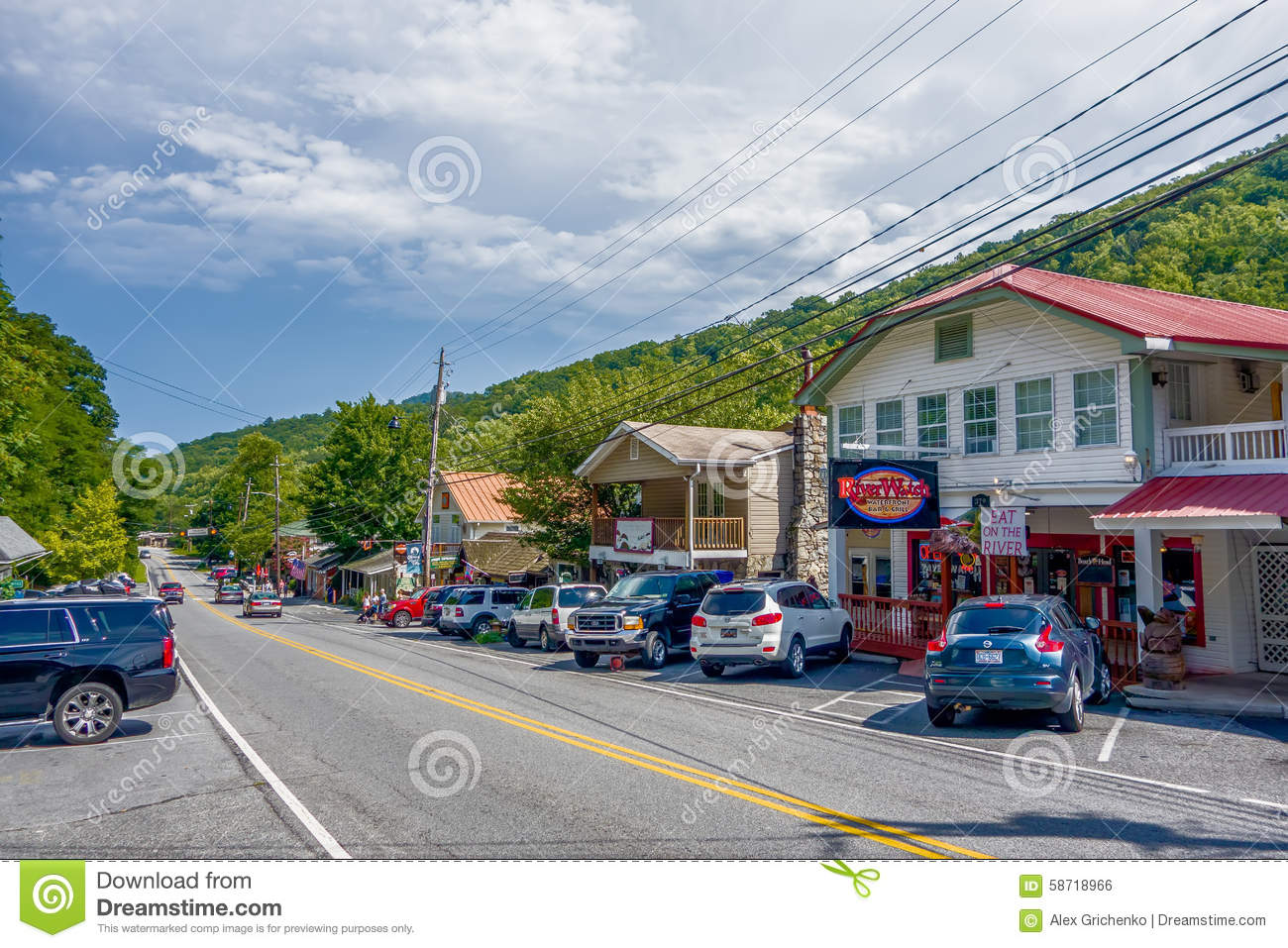 small town at the north stock photo