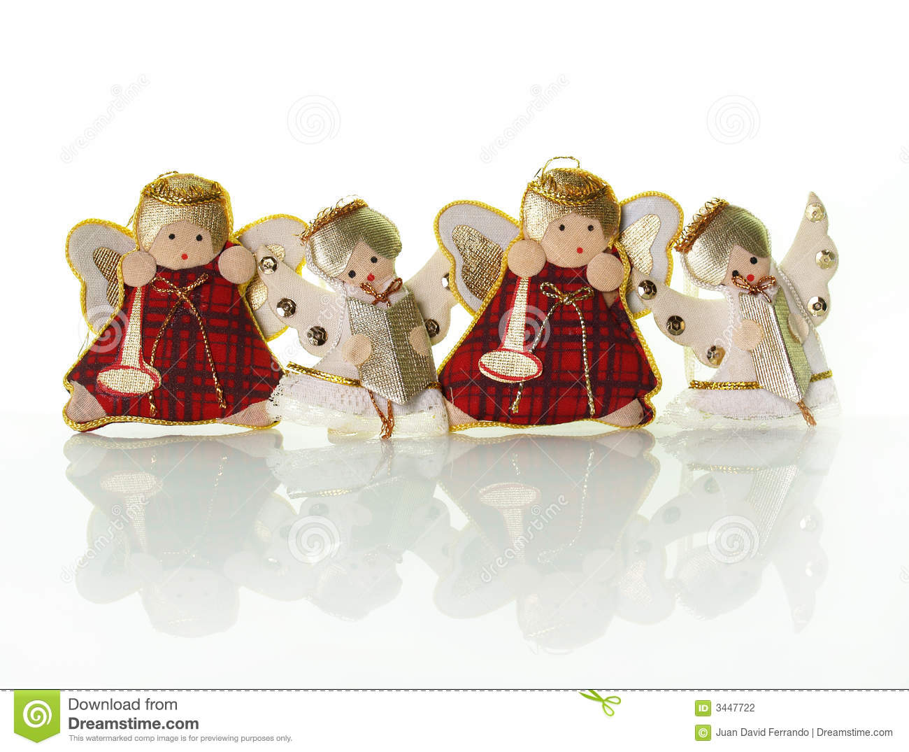 Small Christmas angels stock photo. Image of december - 3447722