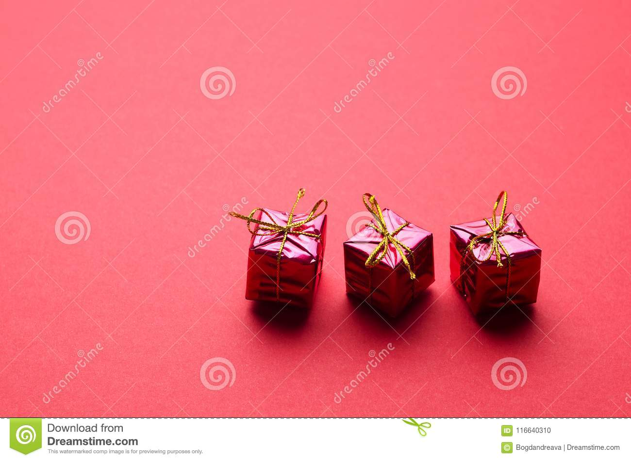 Small Christmas Gift Boxes stock photo. Image of present - 116640310