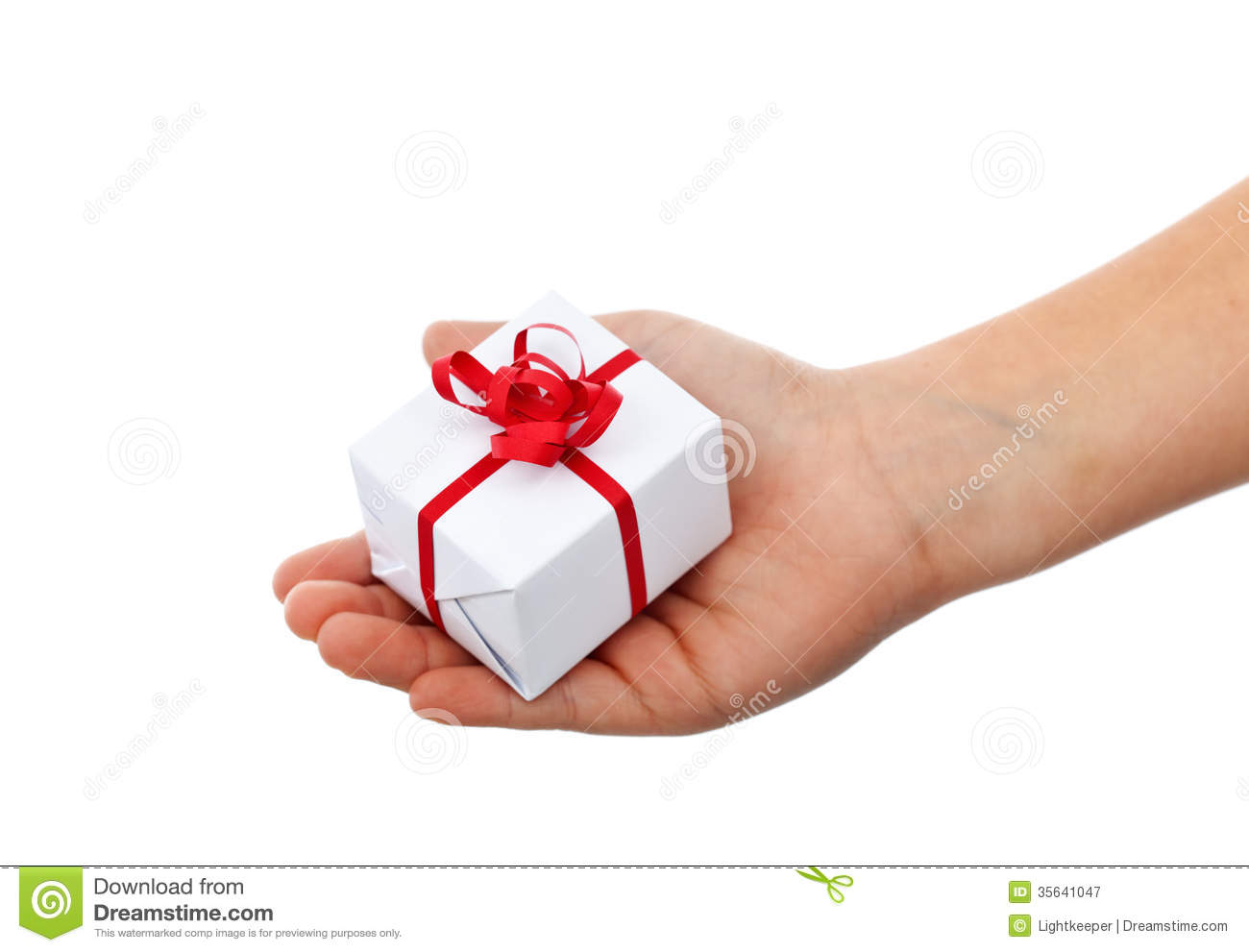 ... Gift In Child Hand Royalty Free Stock Photography - Image: 35641047