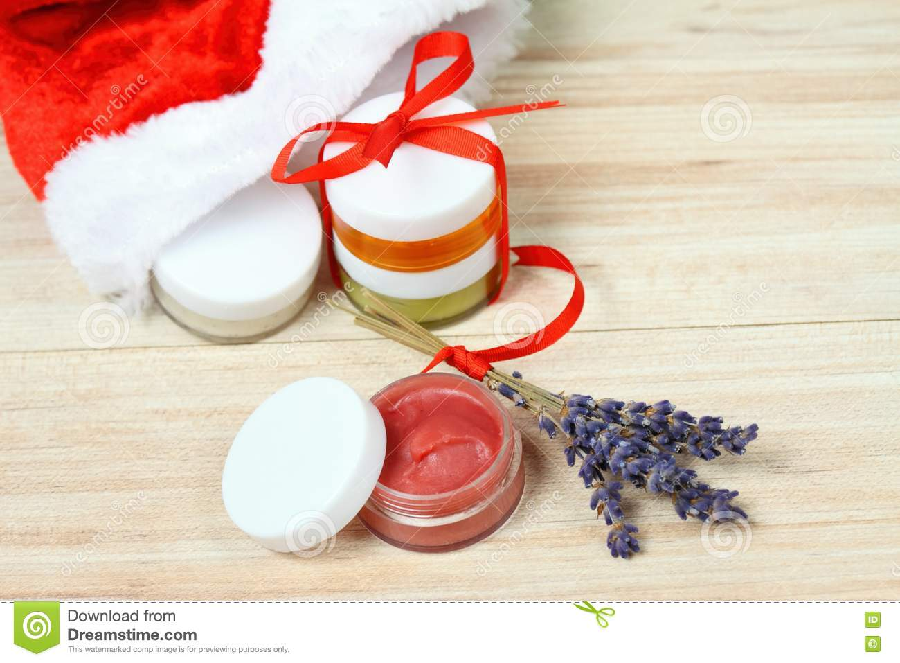 Small Christmas Gifts.Small Christmas Gifts With Homemade Herbal Medicine Stock