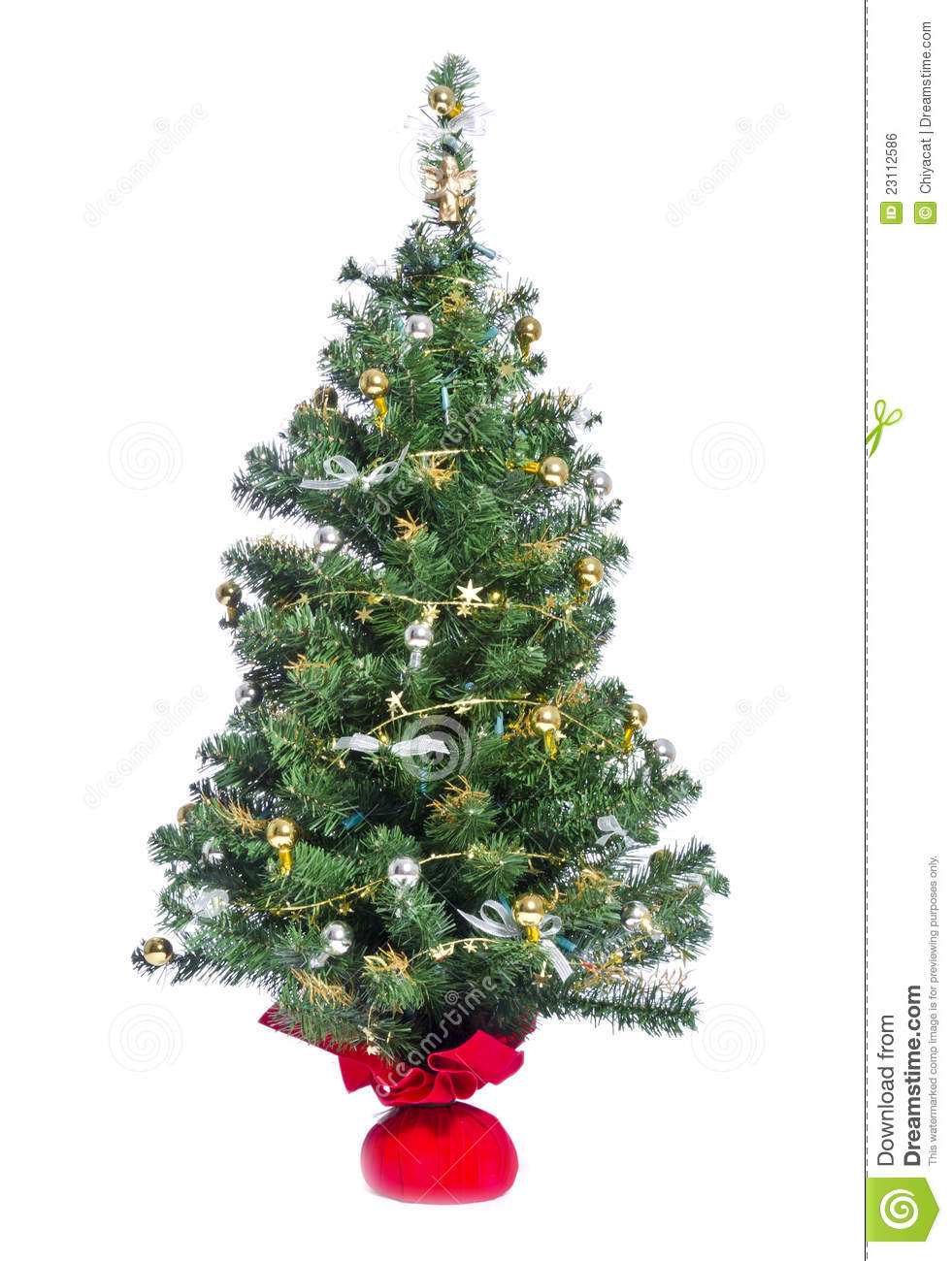 Small christmas tree royalty free stock image for Small slender trees