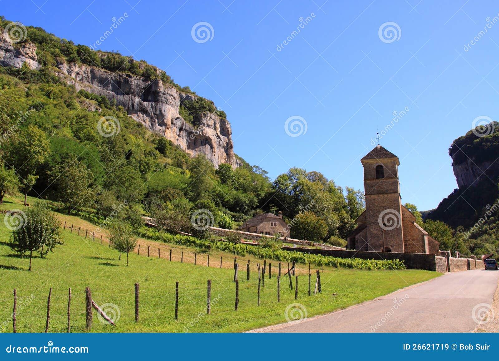 Small church and graveyard Baume les Messieurs