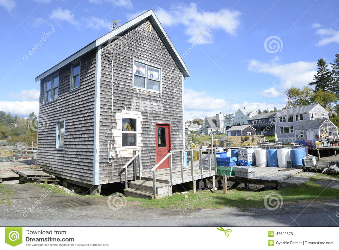 Small Clapboard Building In Maine Stock Photo Image