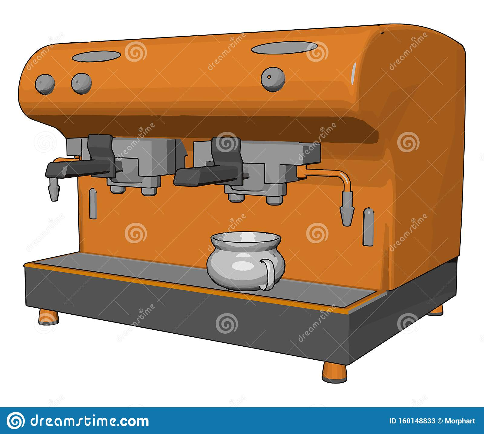 Small Coffee Vending Machine Vector Or Color Illustration Stock Vector Illustration Of Color Cafacopy 160148833