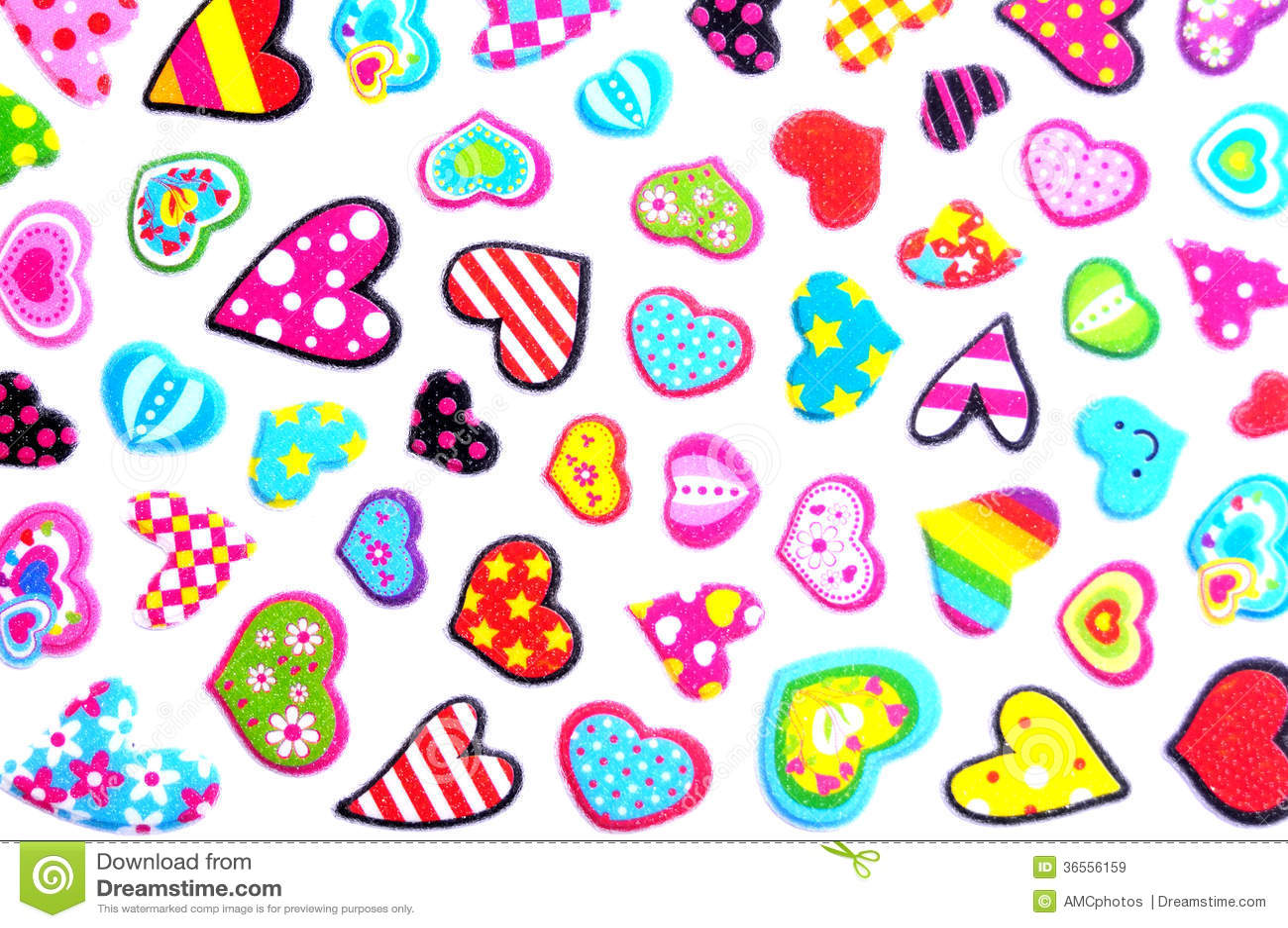 Dibujos De Corazones Coloridos: Small Colorful Hearts Stock Image. Image Of Hearts, Heart