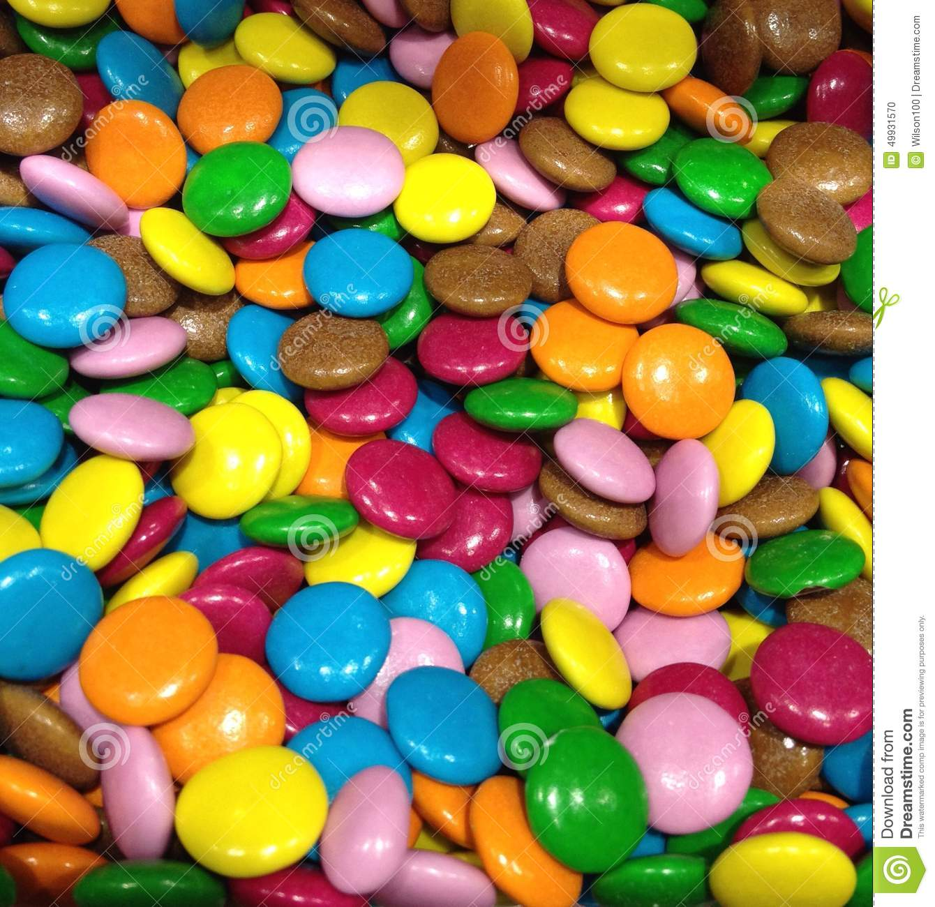 Small Coloured Sweets Stock Photo Image 49931570