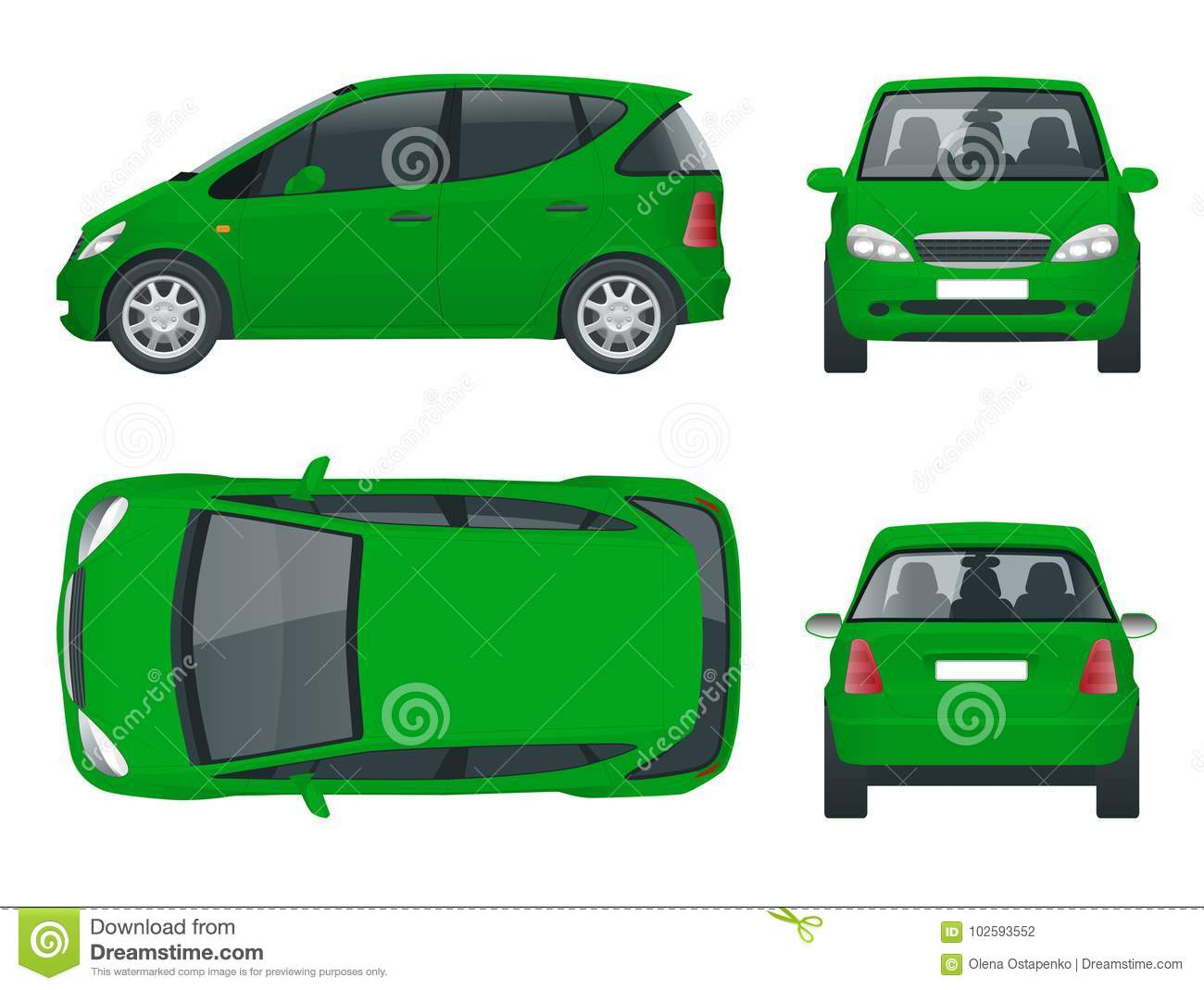 Hi Tech Automotive >> Small Compact Electric Vehicle Or Hybrid Car Eco Friendly