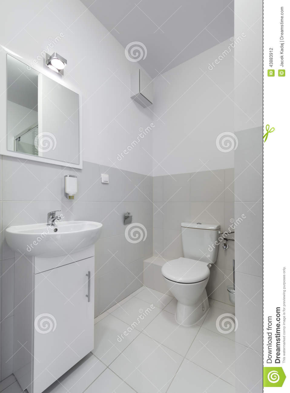 Small And Compact Interior Bathroom Design Stock Photo - Image of ...
