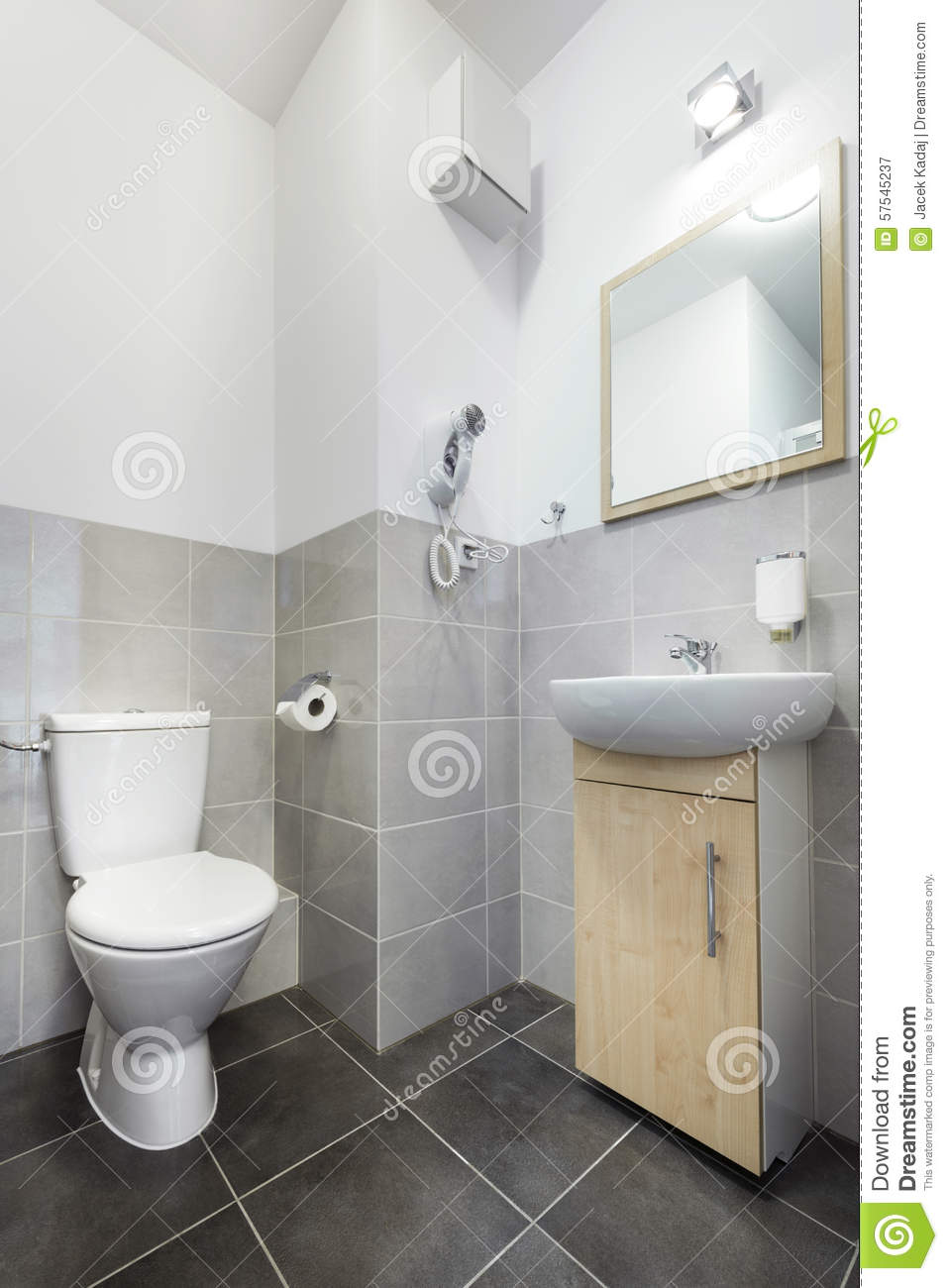 Small And Compact Interior Bathroom Design Stock Image - Image of ...