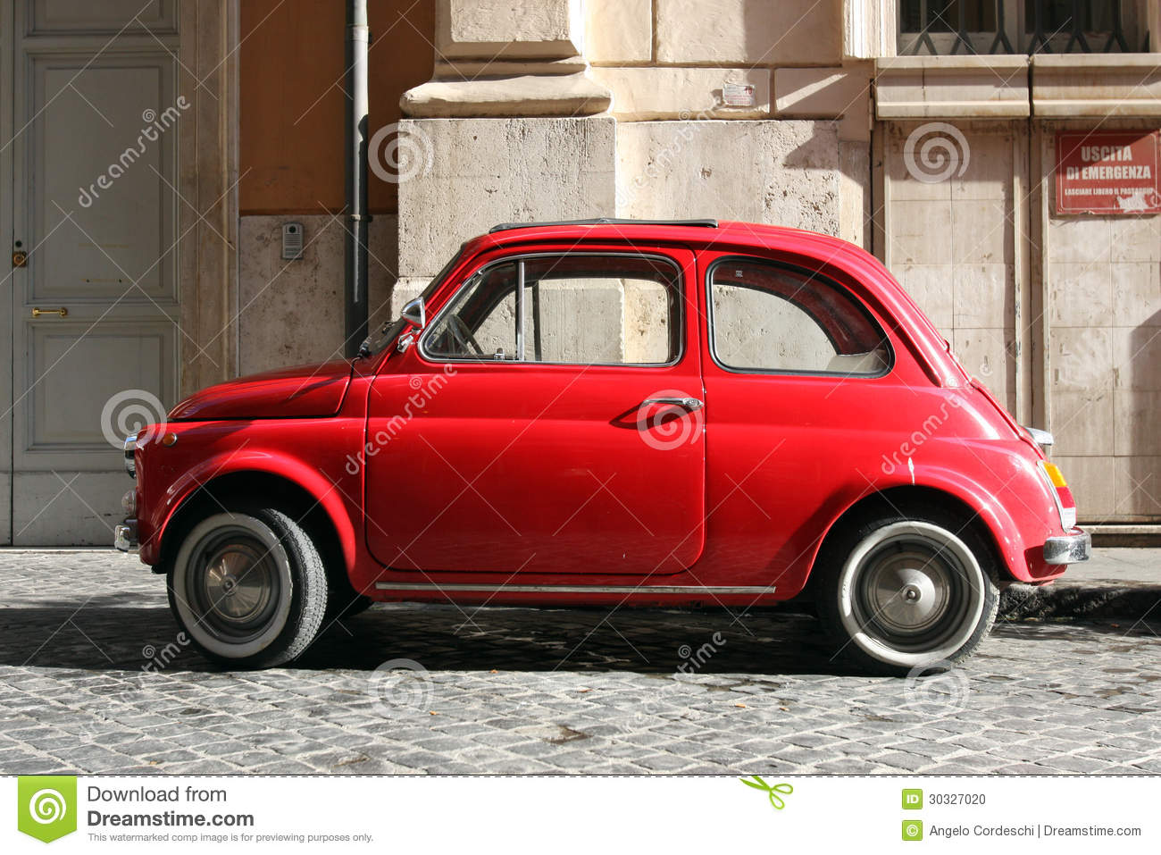 Small Compact Vintage Car Stock Photo Image Of