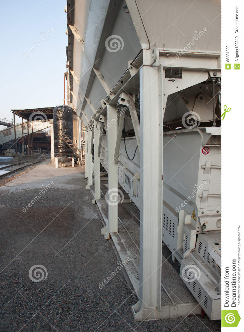 Small Concrete Batching Plant Stock Photo - Image of construction