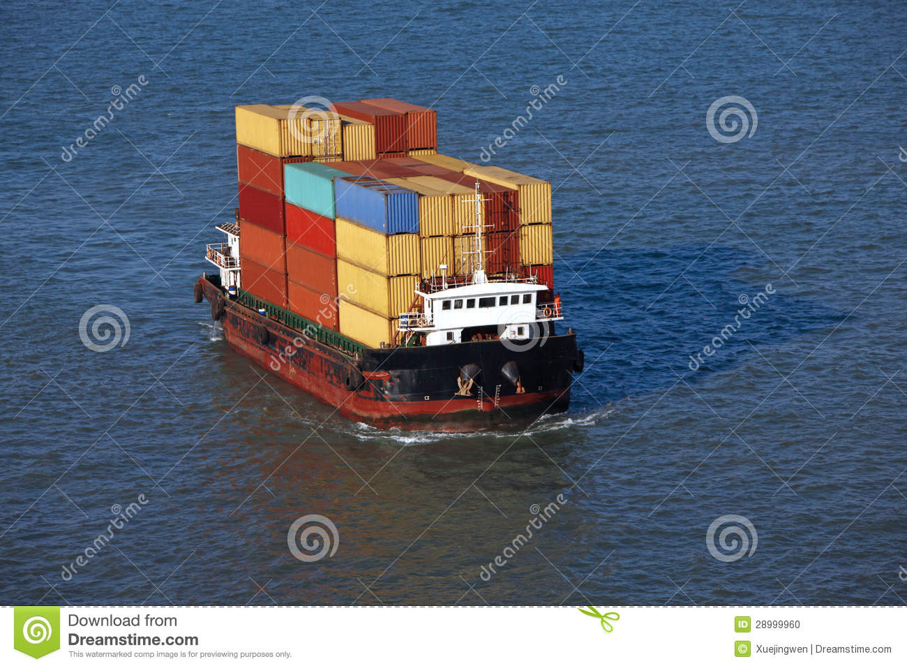 Small Container Ship Stock Photo Image 28999960