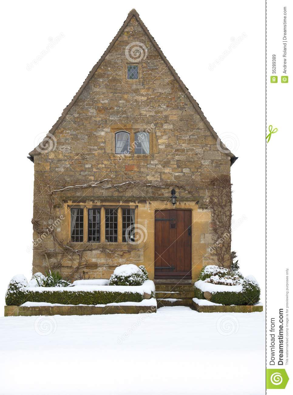 Small Cotswold Cottage England Royalty Free Stock Images