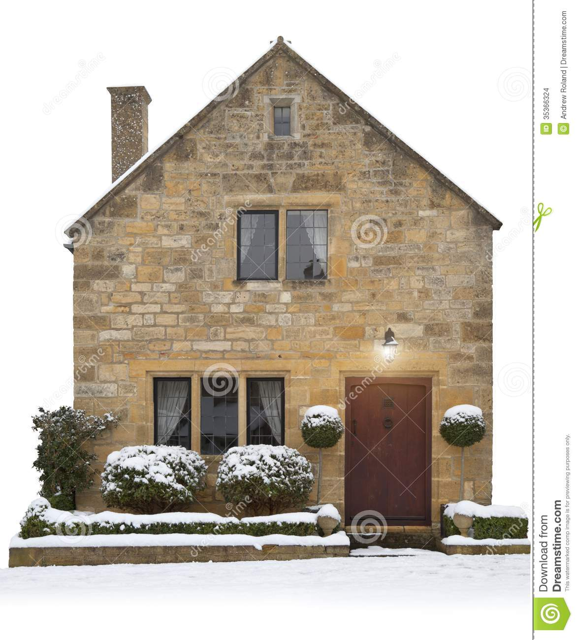 Small Cotswold Cottage England Stock Photo Image 35366324