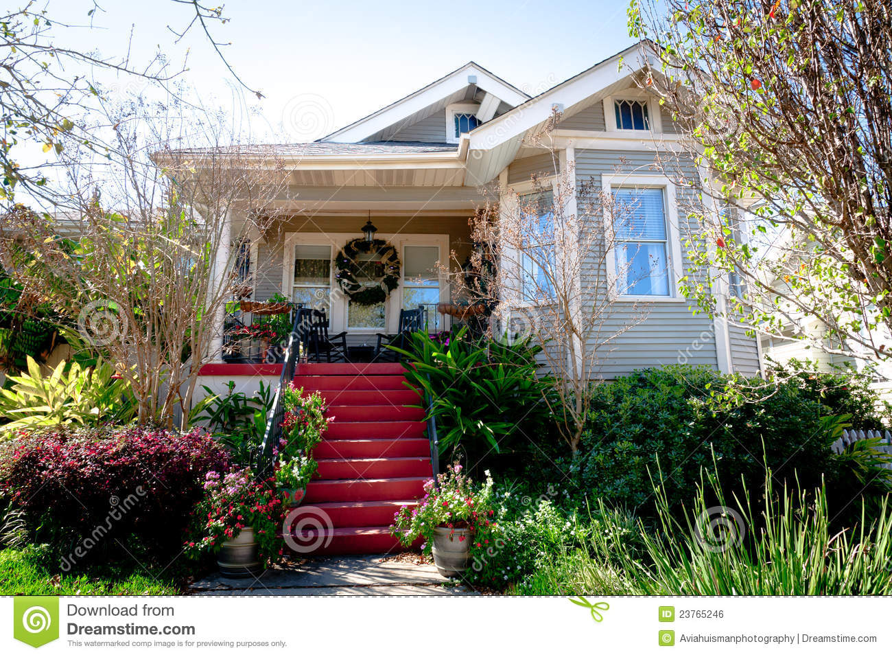 Small Cottage Home And Garden Stock Photo Image 23765246