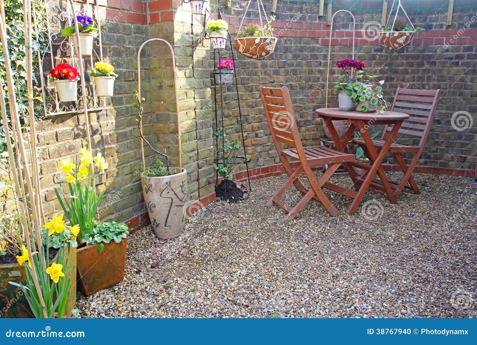 Small Courtyard Garden Stock Photo Image 38767940