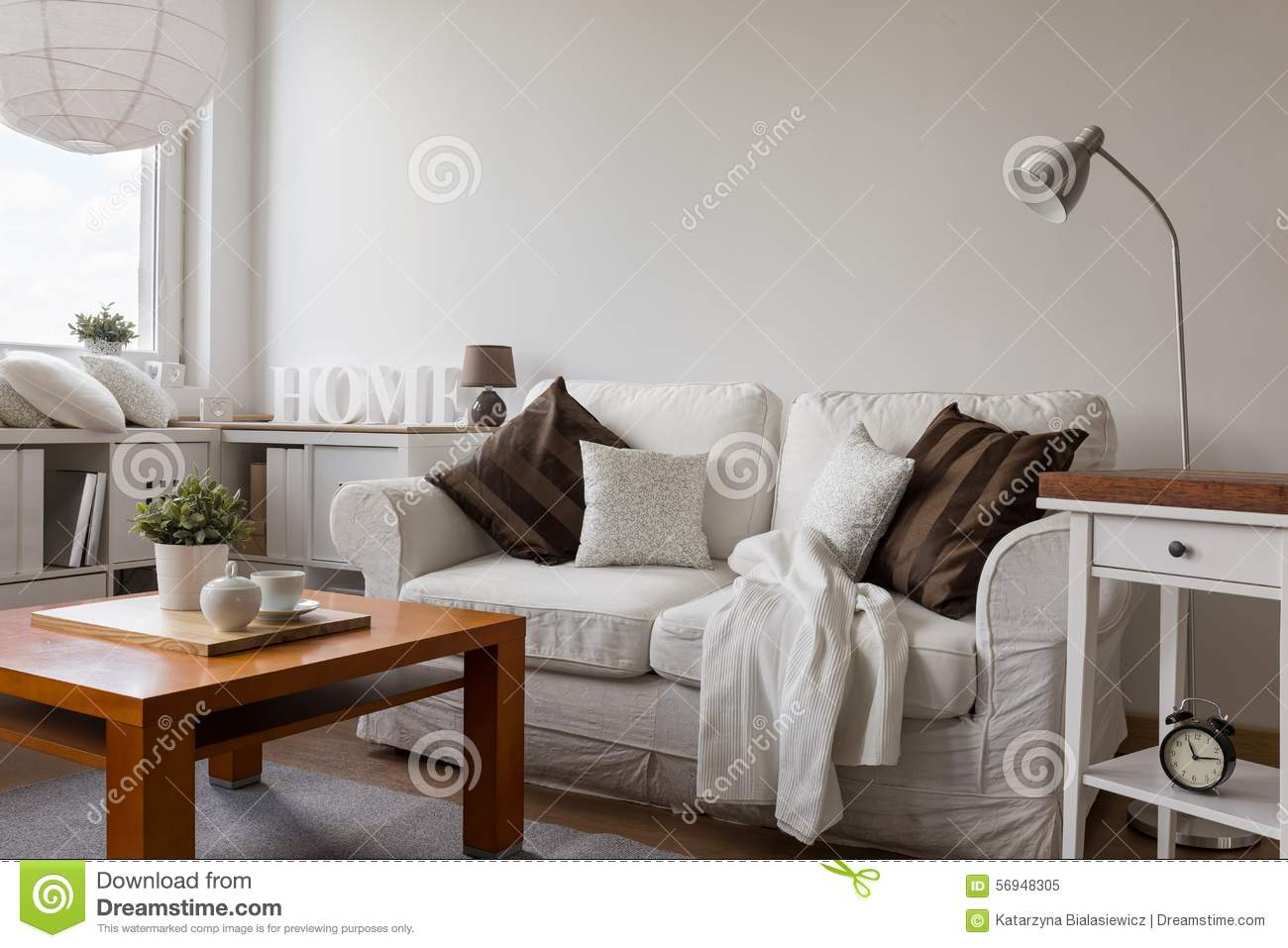 Small Cozy Living Room Stock Photo Image