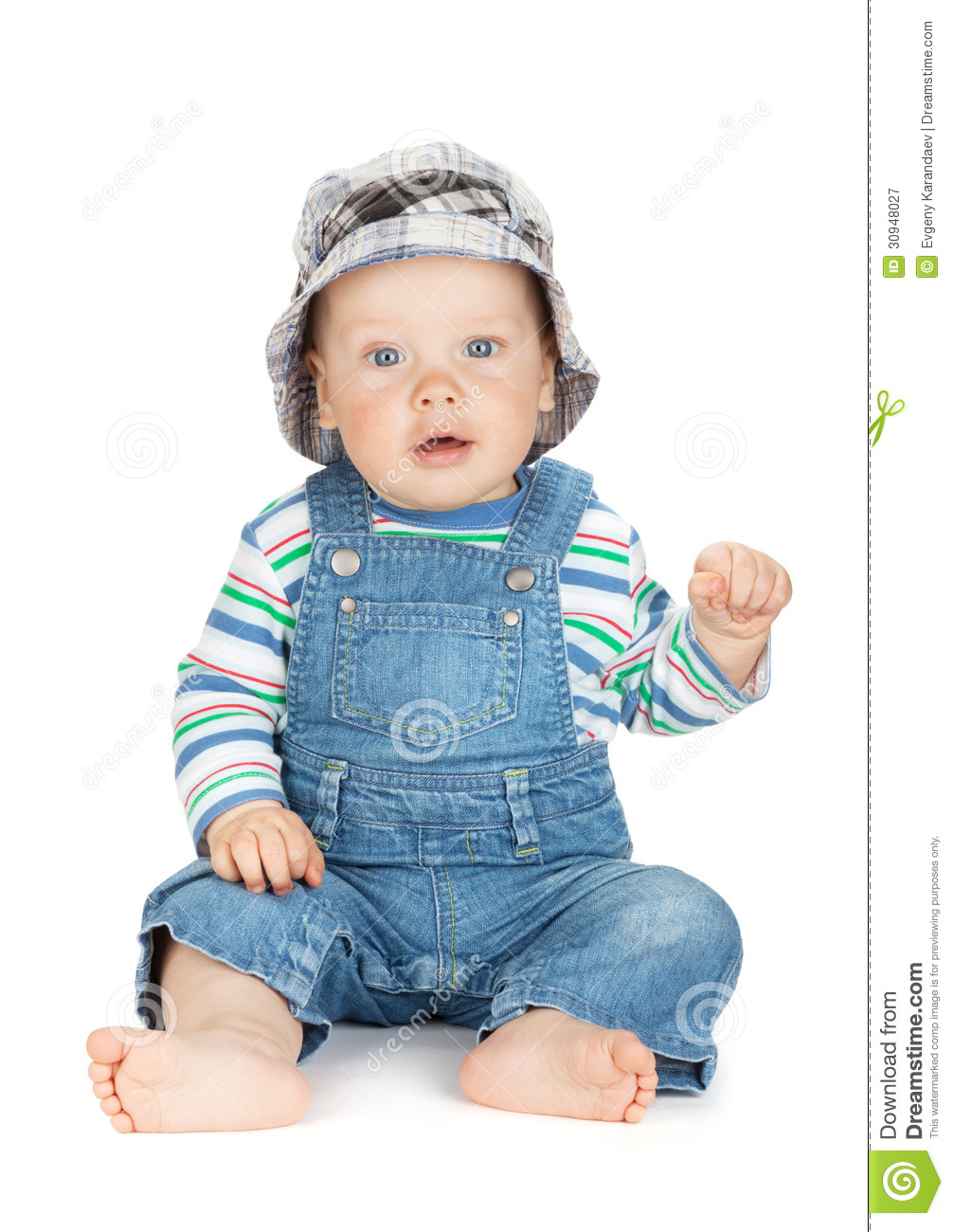 small cute baby boy stock image. image of happy, overalls - 30948027