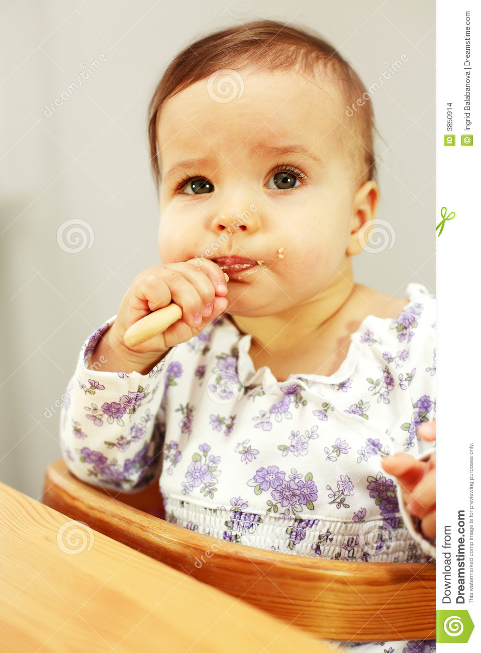 small cute baby eating stock photo. image of feed, appetite - 3850914