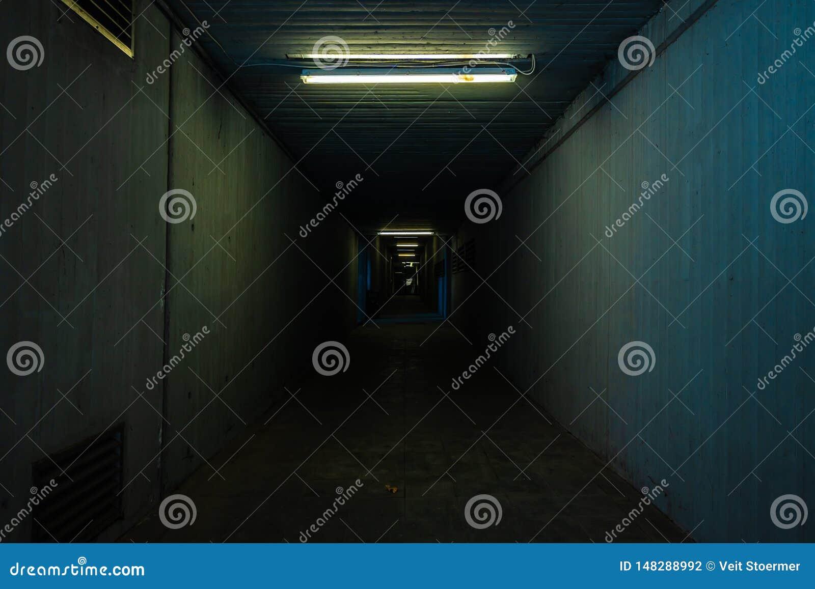 Small and dark tunnel