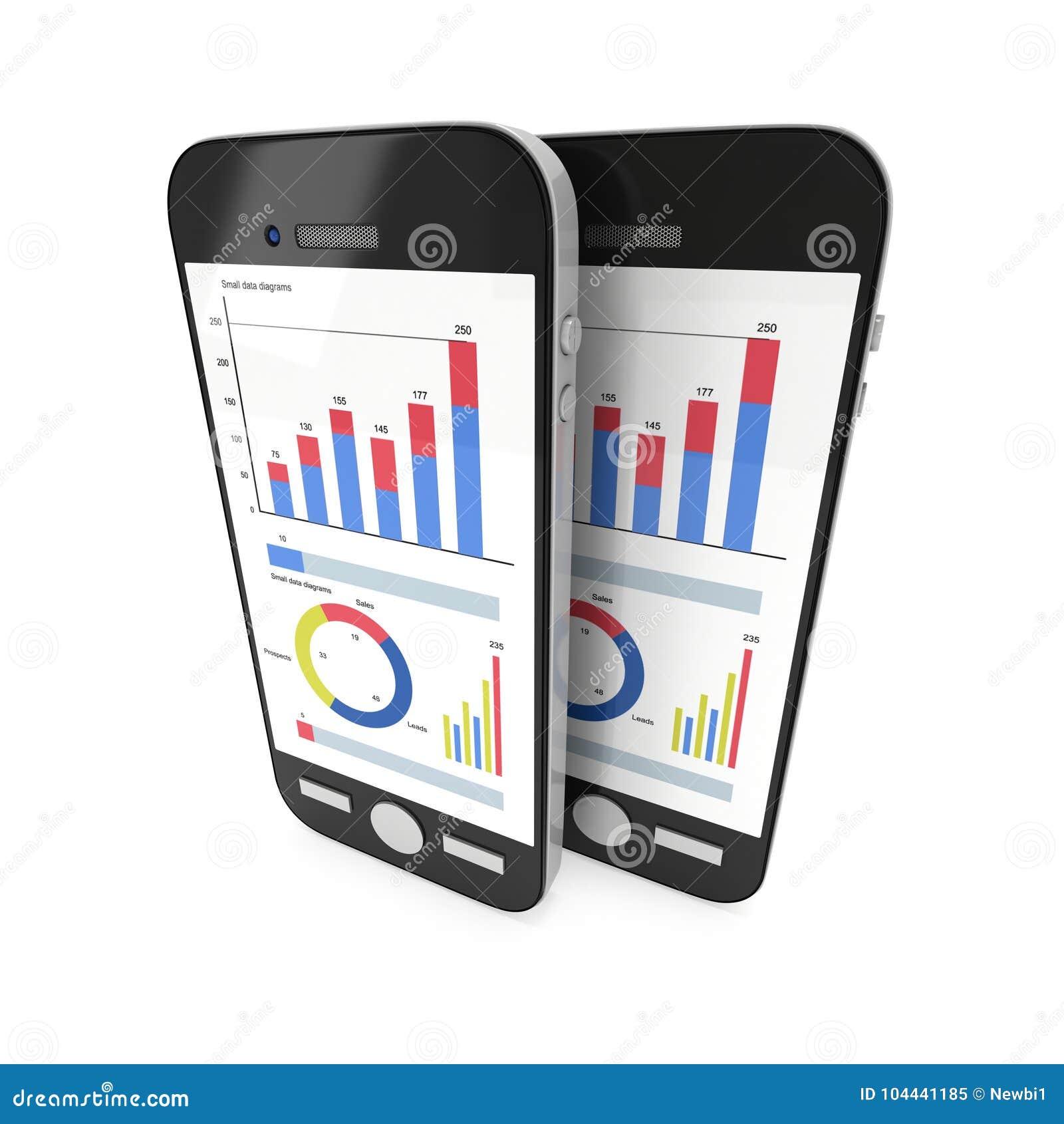 Small Data On Smartphone Stock Illustration Illustration Of