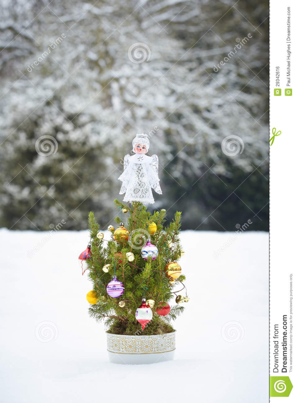 Small Decorated Christmas Tree Royalty Free Stock Image - Image ...