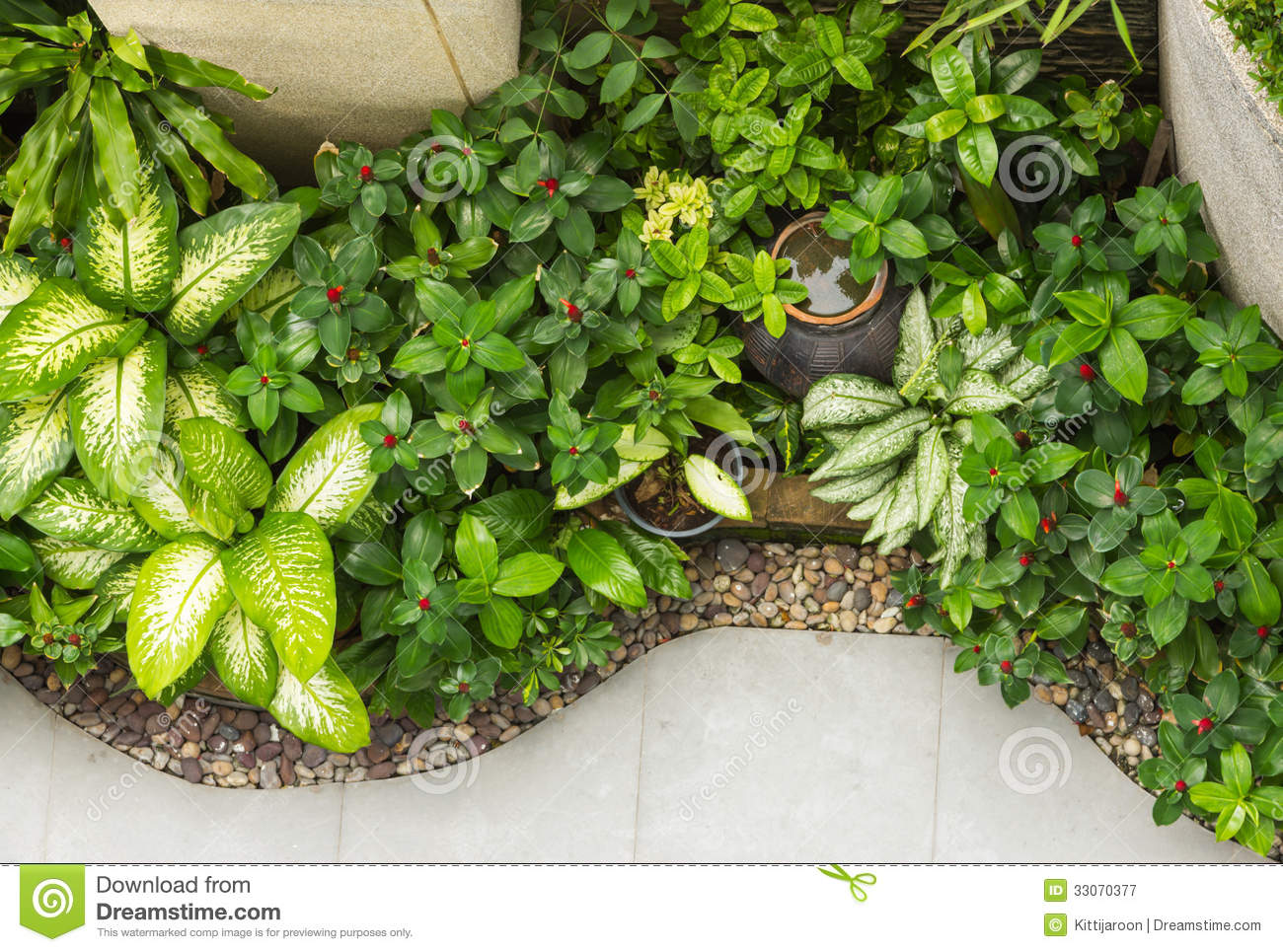 Small Decoration Garden On Top View Royalty Free Stock