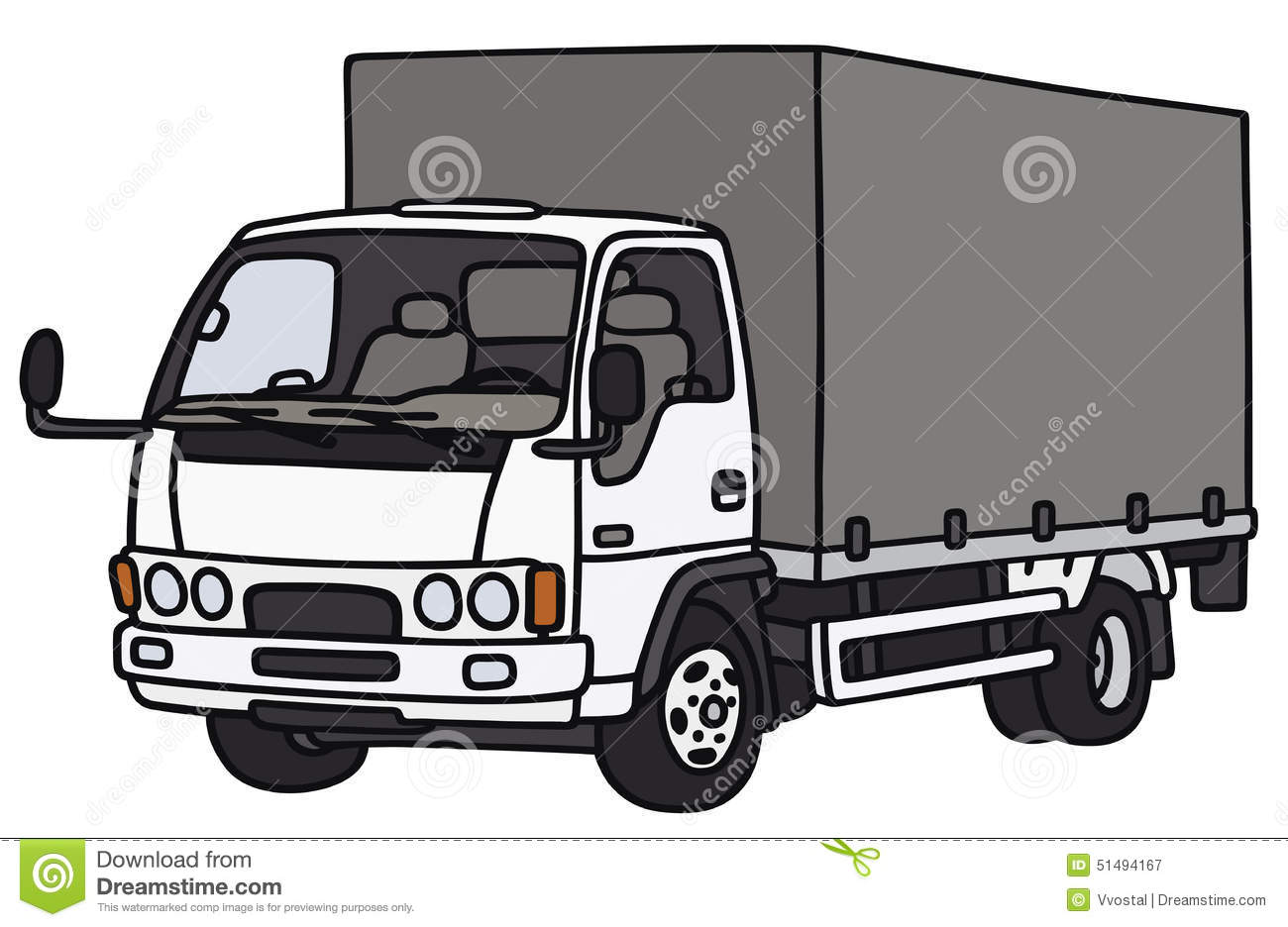 small delivery truck stock vector image of canvas motor 51494167