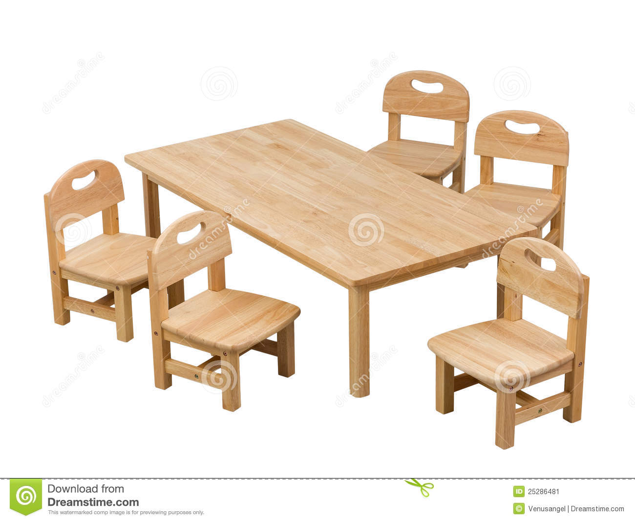 Small desk and chairs for kids stock image image 25286481 for Small chair for kid