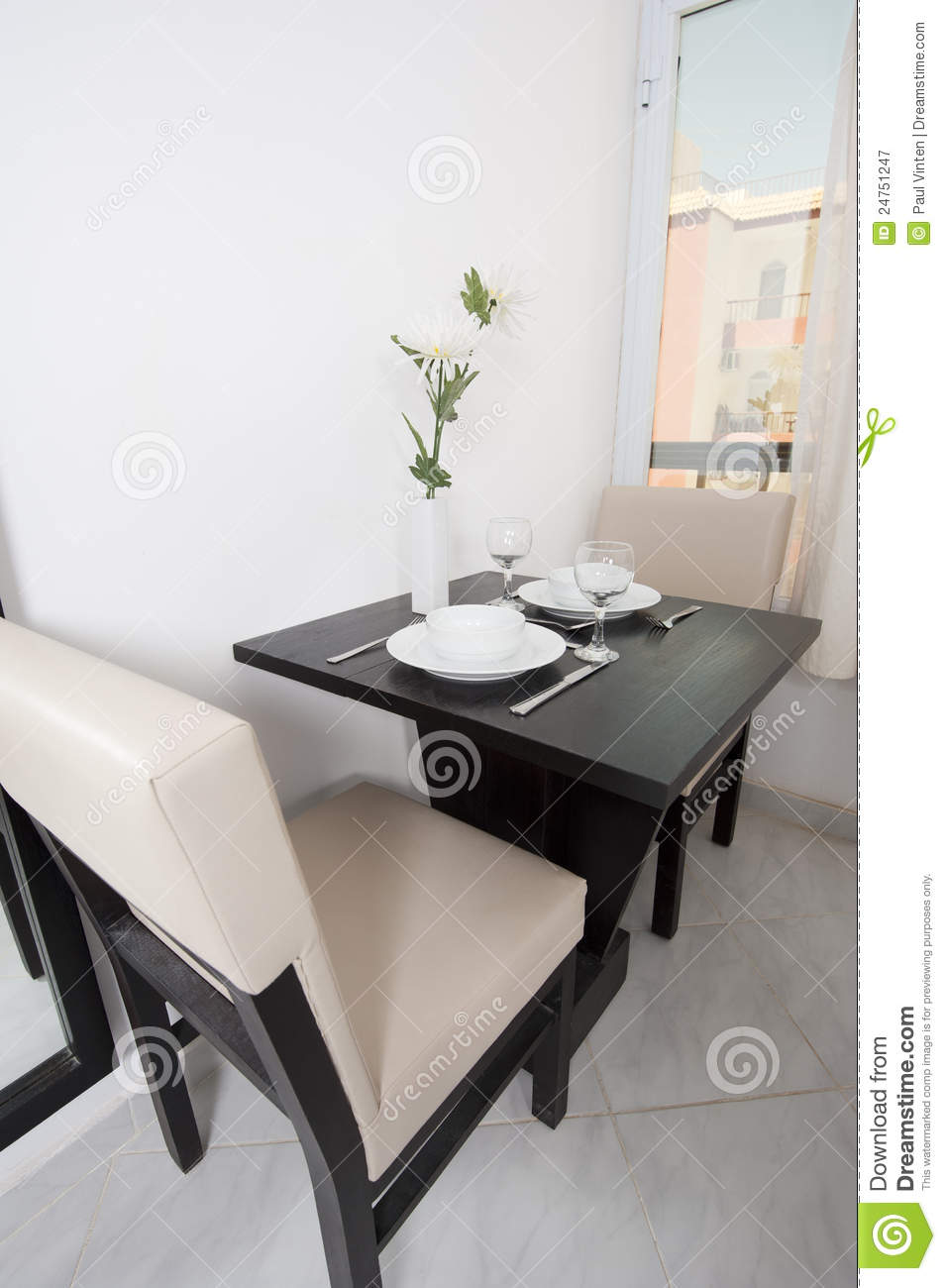 Small Dining Table In An Apartment Royalty Free Stock Photography ...