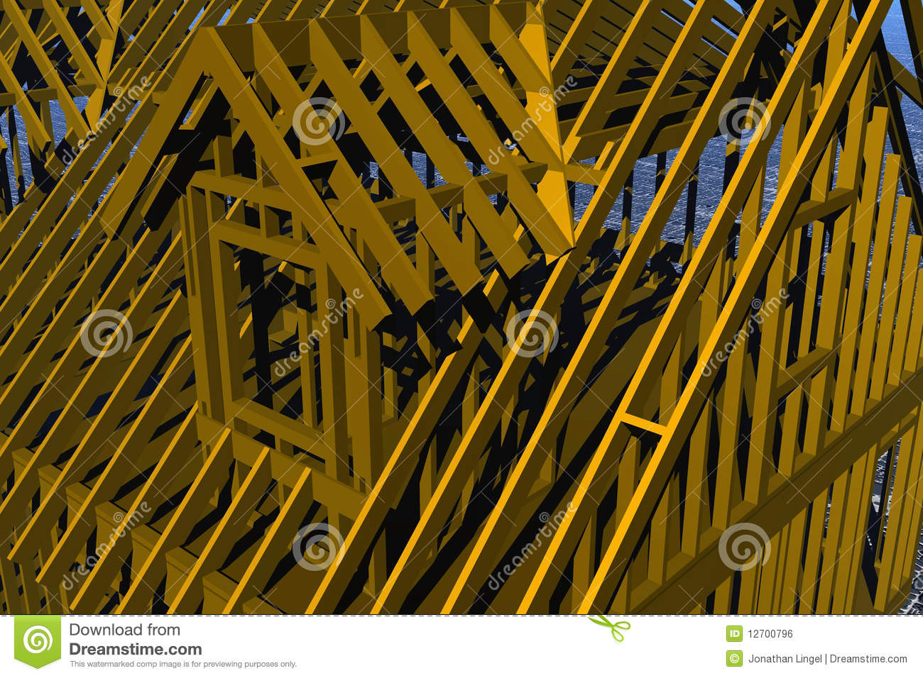 Small Dormer Frame Royalty Free Stock Image Image 12700796