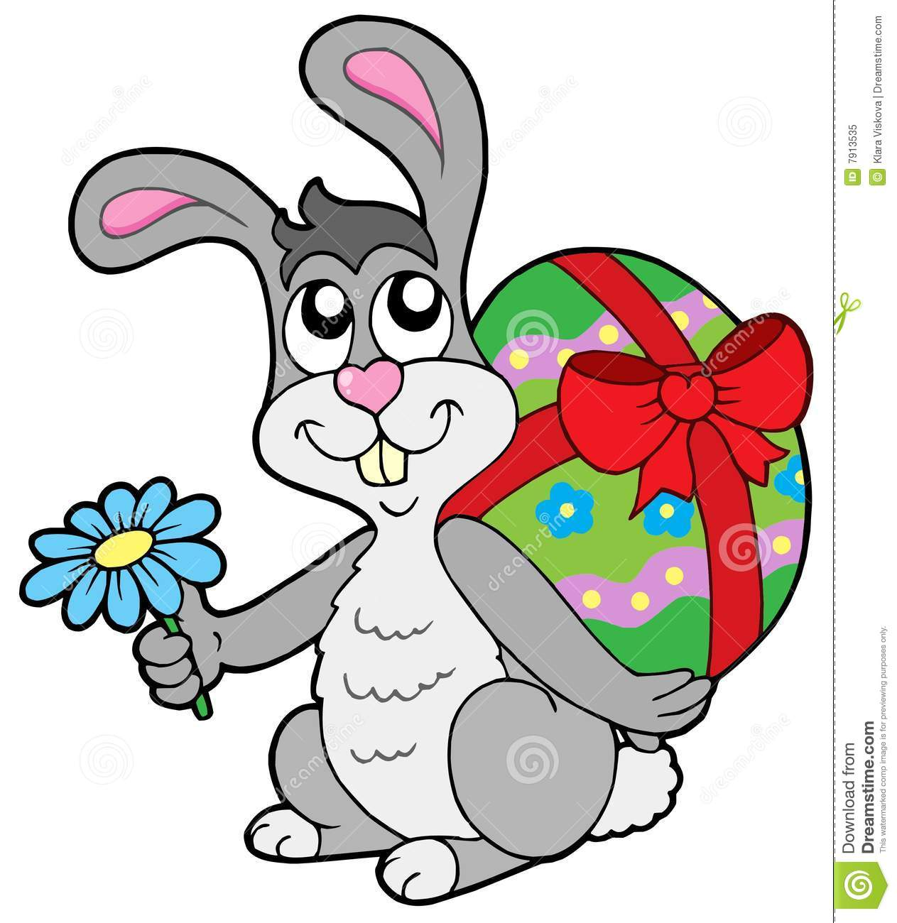 small easter bunny with egg royalty free stock photo image 7913535