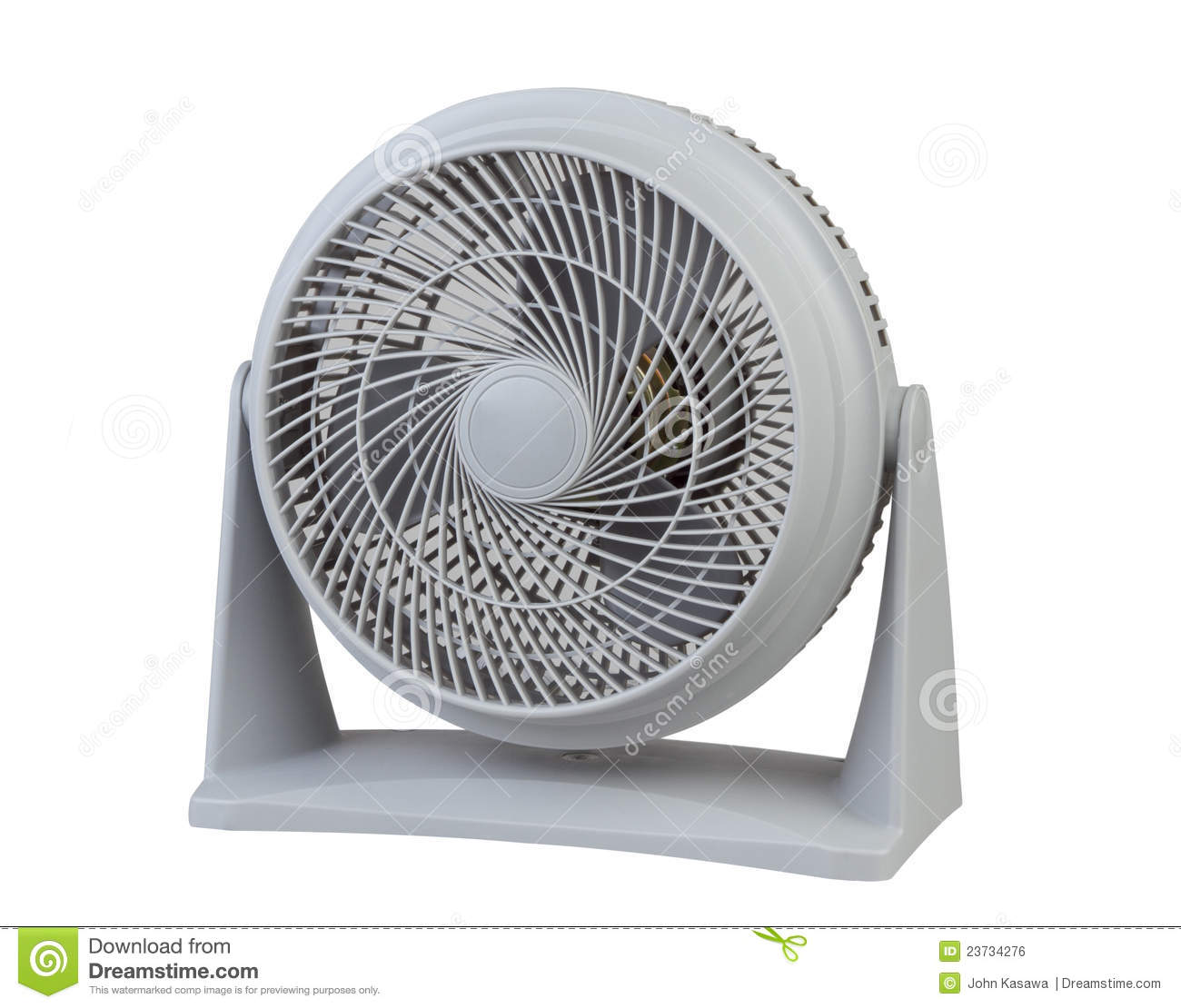 Portable Body Fans : Small electric fan royalty free stock image