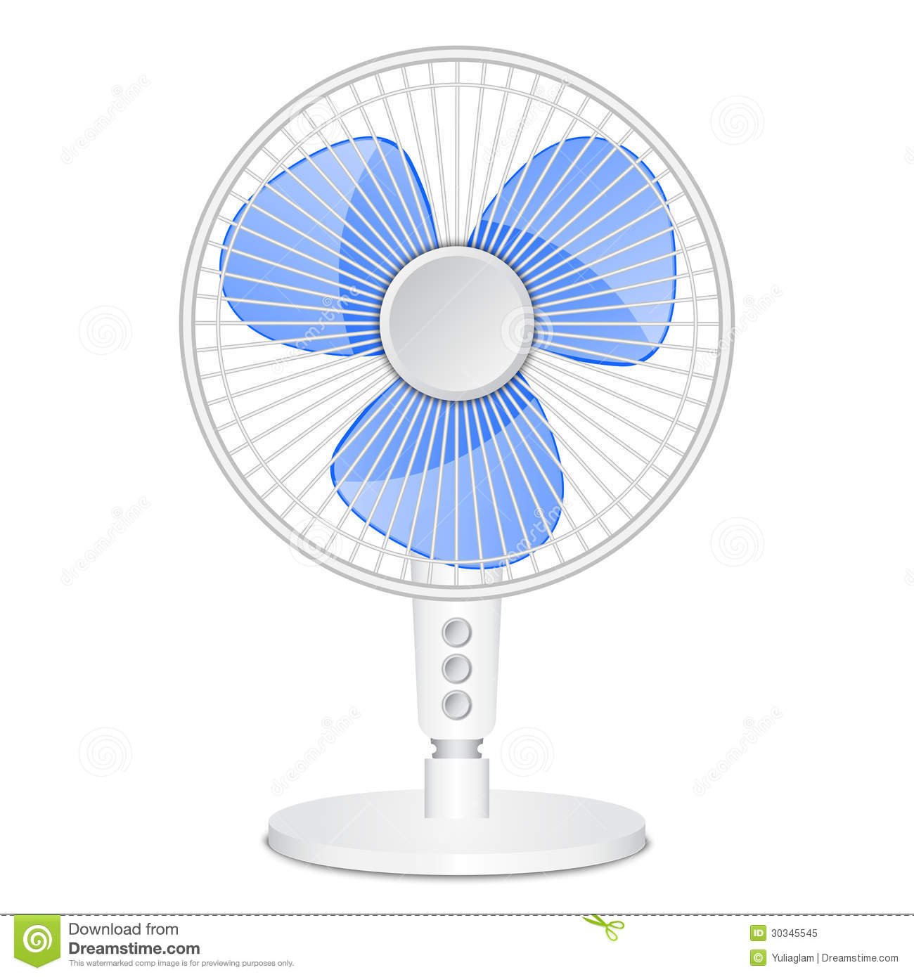 A Sketch Of A Electric Fan : Small electric fan stock vector illustration of button