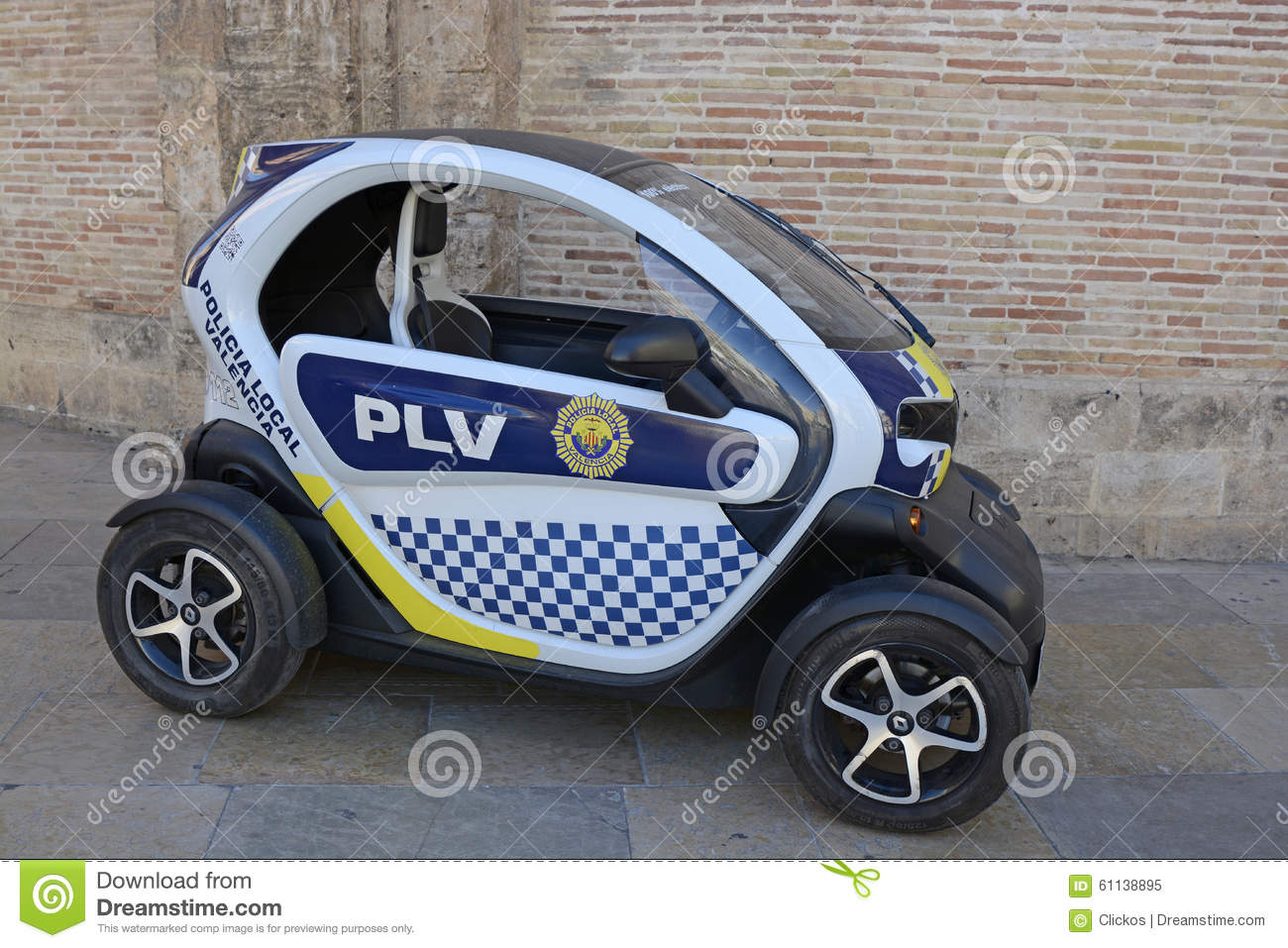Small Electric Police Car In Valencia, Spain Editorial Image - Image ...