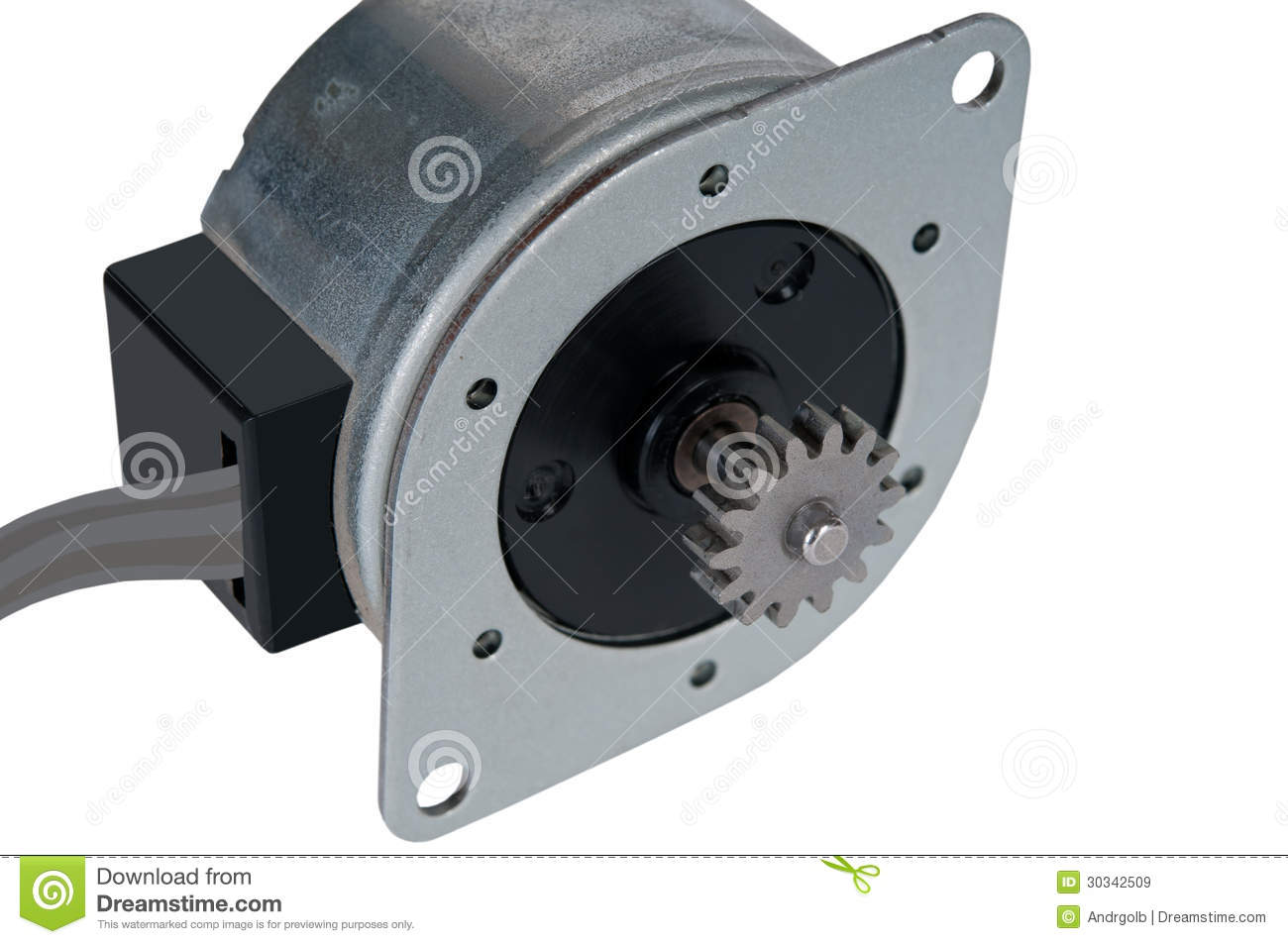 Small Electric Stepping Motor With Stock Image Image Of
