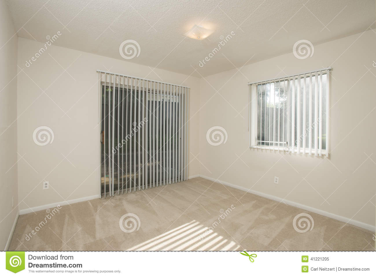 Small empty apartment stock image. Image of bachelor ...