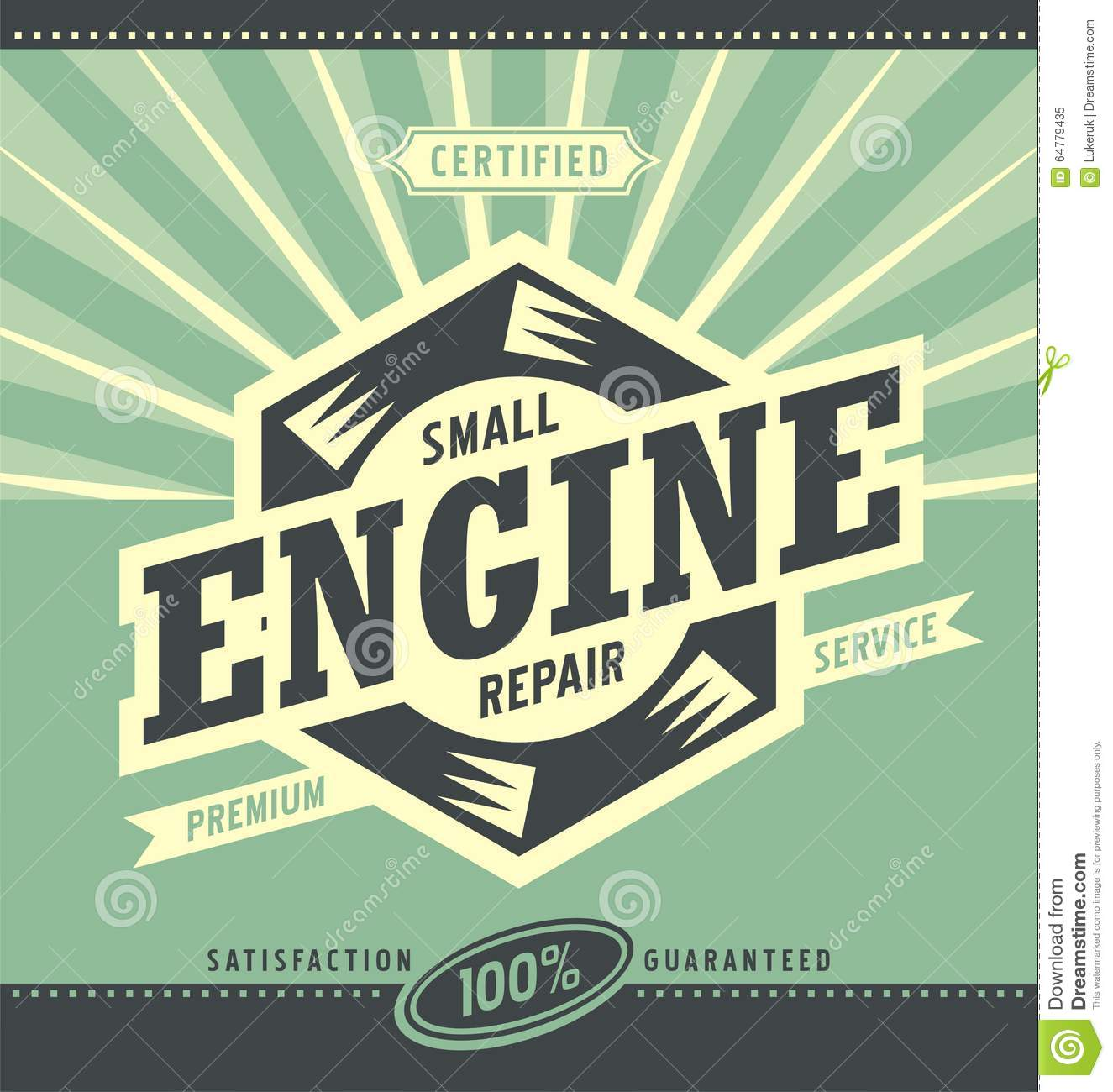 small engine repair retro ad design stock vector image lawn service logo templates lawn service logo pictures