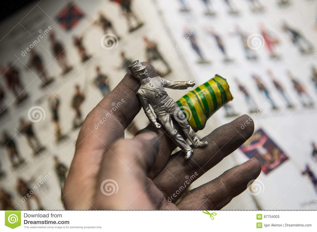 A Small Factory Producing Small Batches Pewter Figurines  Editorial